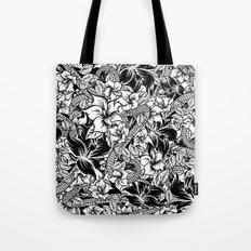 Snaky Fleur, Black 'n White Tote Bag