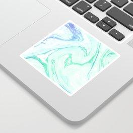 Green Marble Sticker