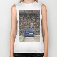 sofa Biker Tanks featuring sofa free by danielle marie