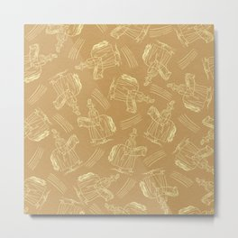 Hobby Horse (Sand) Metal Print