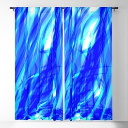 Vector glowing water background made of blue sea lines. Blackout Curtain