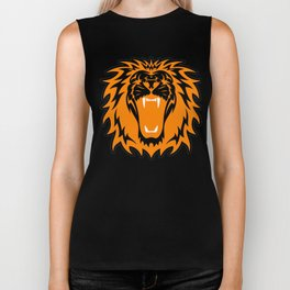 Wild jungle Animal Lion Roar Biker Tank