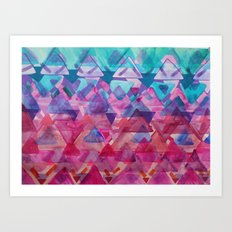 Overlapping Triangles 3 Art Print