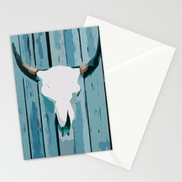 Abstract Cattle Skull Stationery Cards
