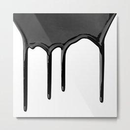 Black paint drip Metal Print