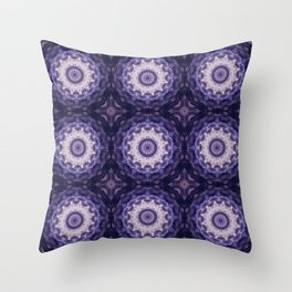 Round ornament in purple tones . Throw Pillow