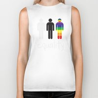 equality Biker Tanks featuring Equality pride by Tony Vazquez