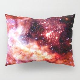 Celestial Fireworks Red Orange Pillow Sham