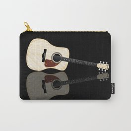 Pale Acoustic Guitar Reflection Carry-All Pouch