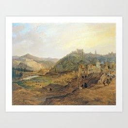 Jenaro Pérez Villaamil General View of Toledo from the Cross of the Canons Art Print
