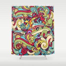 Colorful Hippie Swirl Pattern 2 Shower Curtain