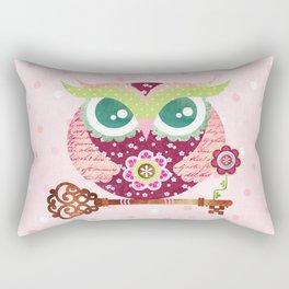 Spring Blossom Owl Rectangular Pillow