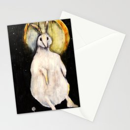 Rabbit with Moon Stationery Cards
