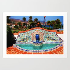 Malibu Fountain Art Print