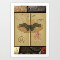 da vinci Art Prints featuring Leonardo da Vinci by Eva Nev