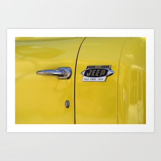 Yellow Jeep  Art Print