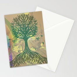 Color My World Green Stationery Cards