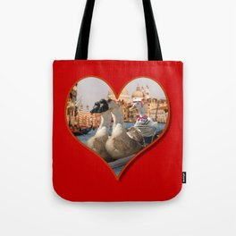 Geese on a Romantic Gondola Ride Tote Bag