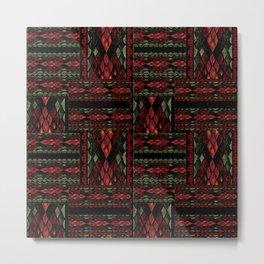 Patchwork seamless snake skin pattern texture Metal Print
