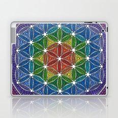 Rainbow Happy Flower of Life Laptop & iPad Skin