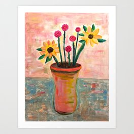 Fan's Daily life series-Happiness flowers in Palo Alto Art Print