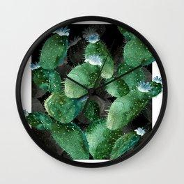Green Big Cactu Wall Clock
