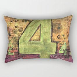 Journey by Number: 4 Repeated Rectangular Pillow
