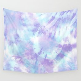 Purple and Blue Pastel Tie-Dye Wall Tapestry