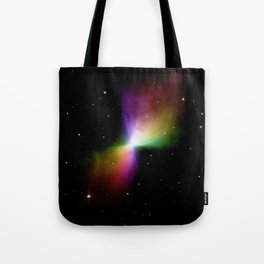 rainboW Space Boomerang Nebula Tote Bag