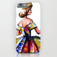 Queen Ball Gown Haute Couture Fashion Illustration iPhone 6s Slim Case