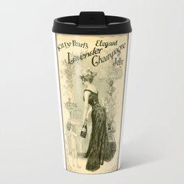 Kitty Pearl's Elegant Lavender Champagne Jelly Travel Mug
