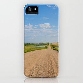 Walking on a Country Road, North Dakota 1 iPhone Case