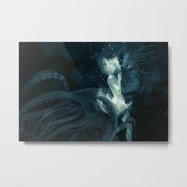 King Squid Metal Print