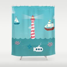 Beside the Seaside Shower Curtain