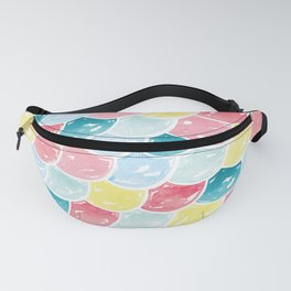 Mermaid Scales | Pink, Blue and Yellow Fanny Pack
