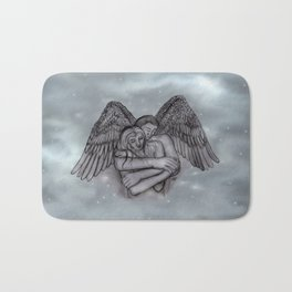 Eros , Amor - Angel and Woman in Love Bath Mat