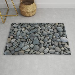 Gray River Stone Pebbles River Rock Rug