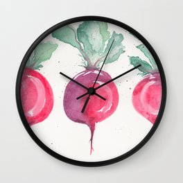 Watercolor beets Wall Clock