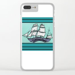 Oh, Ship. We're Going Down Clear iPhone Case