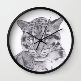 Clouded Leopard - Big Cat Wall Clock