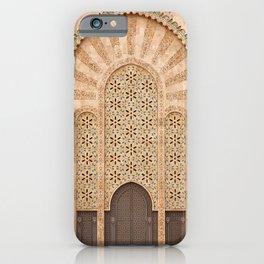 Door of Hassan II Mosque in Casablanca Morocco iPhone Case