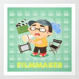 Filmmaker Art Print