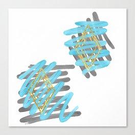 Diamond in the Ruff Canvas Print