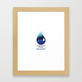 Control Your Enemies Framed Art Print