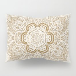 Mandala Temptation in Cream Pillow Sham