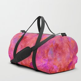 """Abstract Volcano Red Fire"" Duffle Bag"