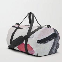 Shy Girl. Abstract Pink Girl. Pink Lips. Pink Hair. Jodilynpaintings. Eyelashes. Gift for All Girls. Duffle Bag