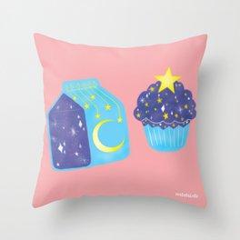 lechita y pastelito cosmico Throw Pillow