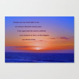 """""""Moonstone Beach Moment"""" with poem: And Counting Canvas Print"""
