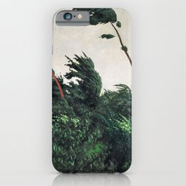 Felix Edouard Vallotton - The Wind - Digital Remastered Edition iPhone Case